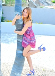 Anita purple heels teen