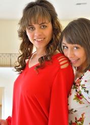 Athena and Mindy Cousins In Red