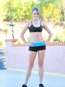 Delilah jogging and bananas