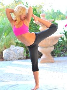 Jayde doing Yoga