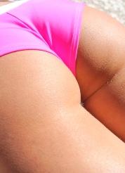Jayde in a Pink Bikini