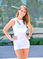Leann white dress strip