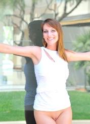 Leann white dress strip