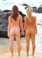 Lena and Melody Beach Bunnies
