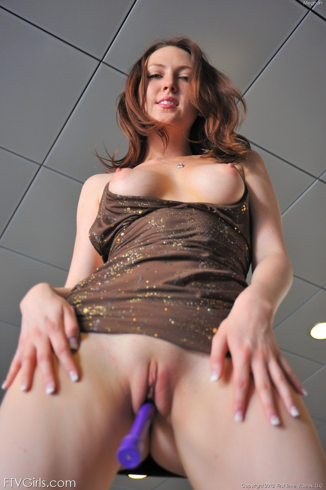 image Hot redhead in action at a convenience store