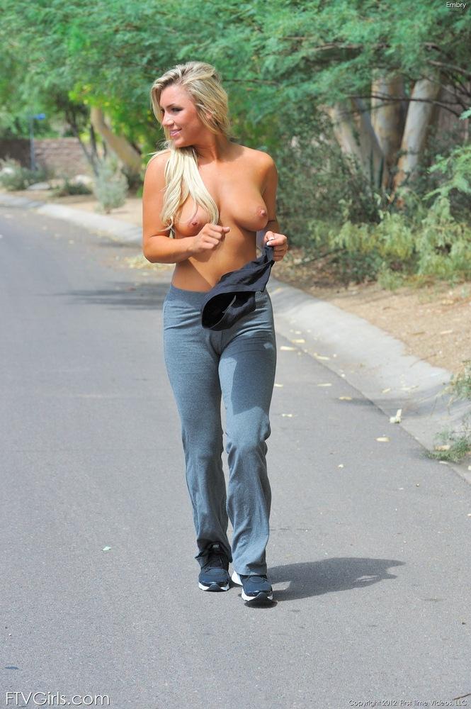 mum topless public beach