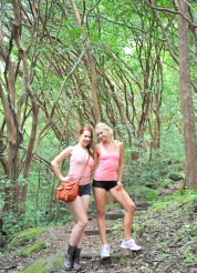 Nude hike with Melody and Lena