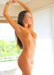 Teal masturbates nude