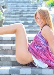 Anita purple heels teen