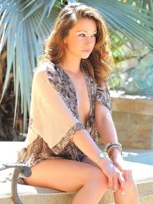 Blake shows off her bikini
