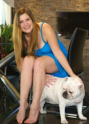 Danielle And The Bulldog