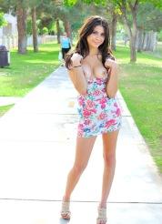 Eliana and the flowery dress