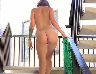 Gina green dress masturbation