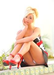 Jayde in her Red Heels