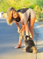 Kennedy Walking the Dog