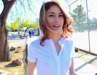 Kristen Schoolgirl Look