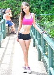 Mary Aubrey Hiking Lao Valley