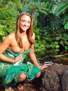 Mary Aubrey Pantiless in Hawaii
