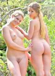 Nicole and Veronica Horny Nude Hikers