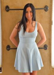 Cecilia-II Sexy Satin Blue Attire Picture 1
