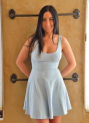 Cecilia-II Sexy Satin Blue Attire Picture 1